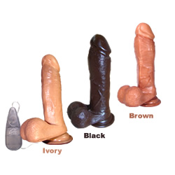 Emperor Vibrating Dildos Brown - 6 inch SE0130022