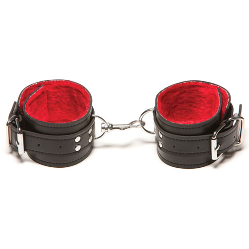 Passion Fur Ankle Cuffs - Red