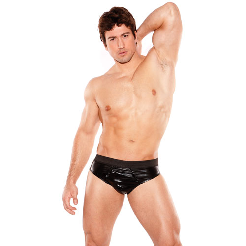 Zeus Wet Look Brief - Men