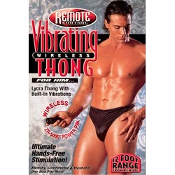 Vibrating Wireless Thong - Men's