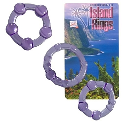 Silicone Island Rings - 3 Pack