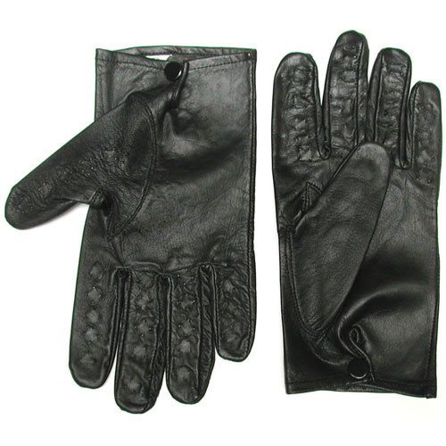 Leather Vampire Gloves - Medium