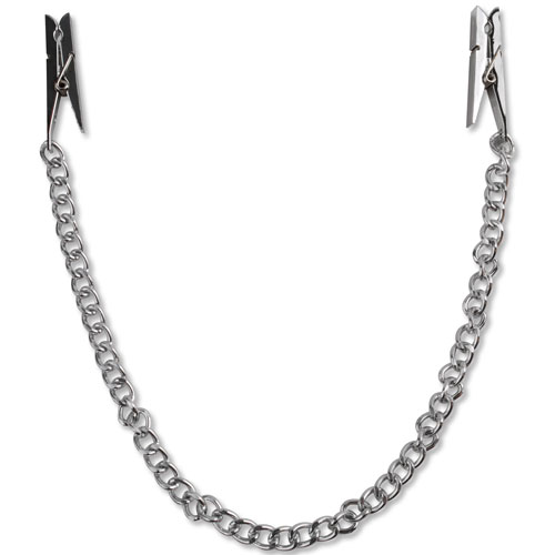 Nipple Chain Clips-silver