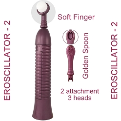 Eroscillator 2 with Golden Spoon & Soft Finger - Purple