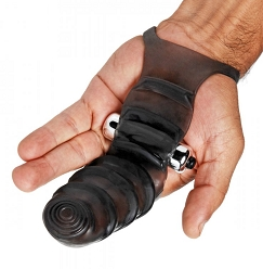 Master Series Bang Bang Vibrating Glove - Black