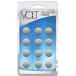 Volt Alkaline Batteries AG-13 - 12 Pack - compatible with LR44