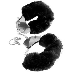 Fur Handcuffs - Black